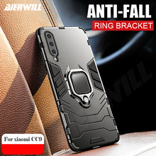 Armor Ring Case For xiaomi mi A3 case Magnetic Car Hold Shockproof Bumper Protection Phone Cover Mi lite