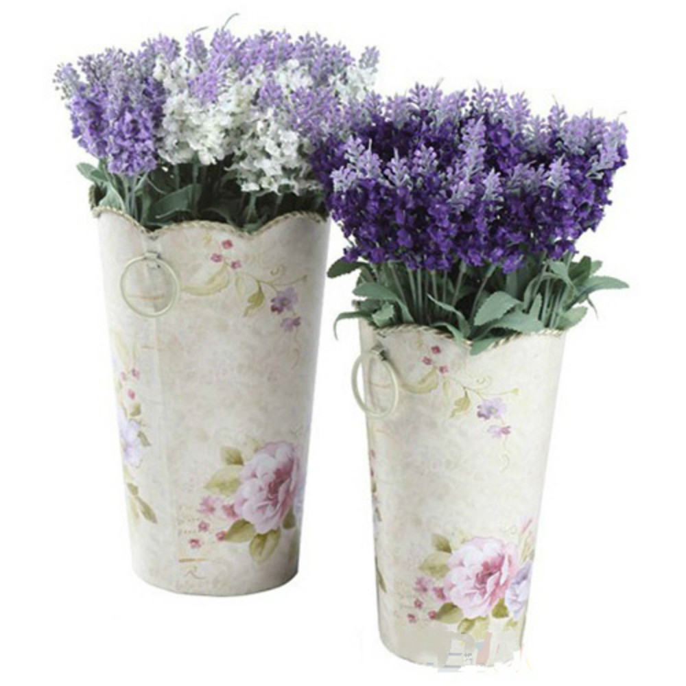10 Heads Artificial Lavender Silk Flower Bouquet Wedding