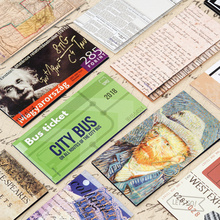 Buy 4pcs Retro note book sticky memo pad Van gogh Shakespeare Bill label tag Quotes bookmark Stationery Office School supplies F303 directly from merchant!