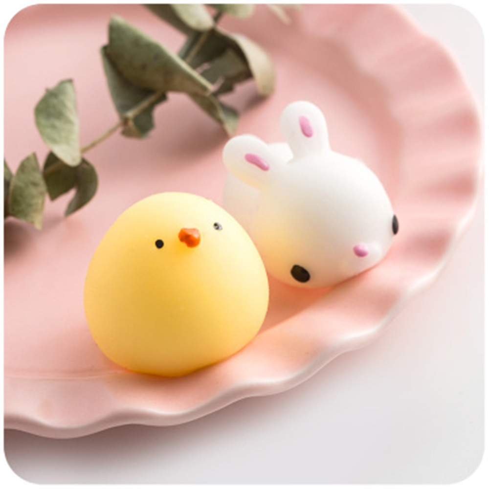 Squishy Cute Funny Toys Antistress Ball Mini Change Color Kawaii Cat Squeeze Animal Squishes Mochi Slow Rising Stress Relief