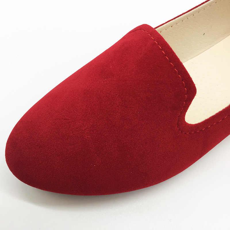 גדול גודל נשים דירות צבעים בוהקים מוקסינים אישה אביב סתיו שטוח נעלי נשים Zapatos Mujer בתוספת גודל 35-42 WSH2216