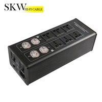 Skw 6 положение разъем 15A 50 60 кГц Hi End HiFi аудио AC Мощность фильтр, аудио Шум фильтр, Мощность кондиционер, Мощность Purifie анти