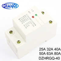 230VAC 25A 63A Din Rail Automatic Recovery Reconnect Over Under Voltage Relay Protective Device Protector Overvoltage Protection