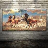 8 Prowadzenie Konia Zwierząt Nowoczesny Obraz Olejny Na Płótnie Drukowane bawełna Obraz Do Salonu Wall Art Ścienne Malowidła Ścienne wystrój