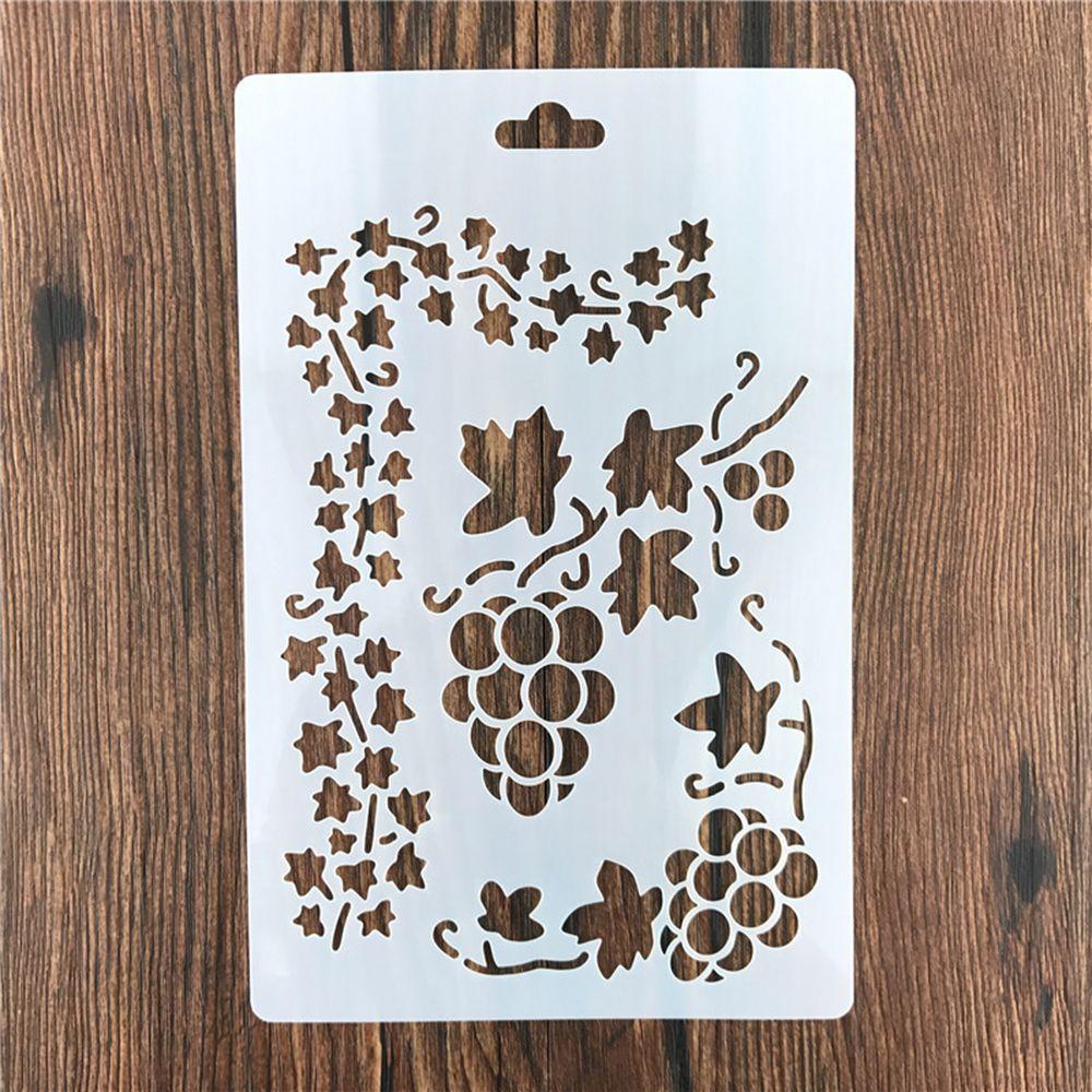 Grape Vine Leaf Reusable Stencil Airbrush Painting Art Cake Spray Mold DIY Decor Crafts
