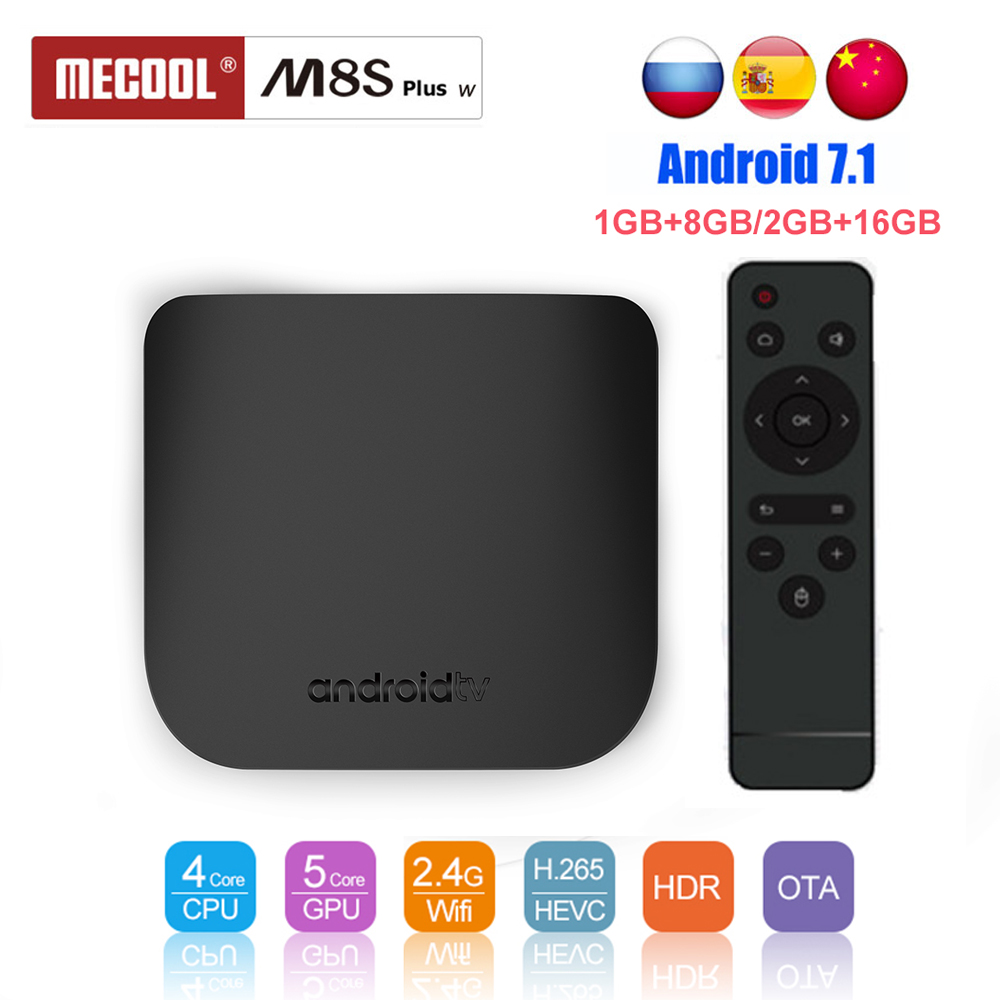 Mecool M8S Plus W TV BOX Android 7.1 Amlogic S905W Octa Core 2GB 16GB 2.4G WIFI Media Player Smart Mini PC Set Top Box mecool m8s plus w tv box android 7 1 amlogic s905w octa core 2gb 16gb 2 4g wifi media player smart mini pc set top box