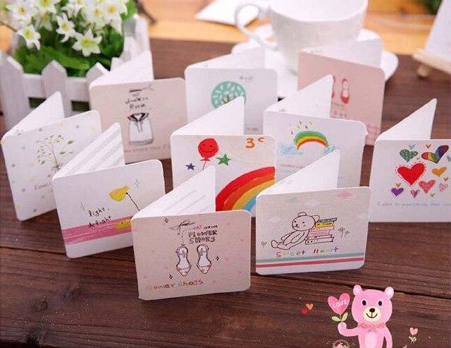 Hand drawn cartoon small greeting card mini holiday