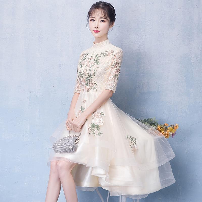 Image 3 - Женское платье цвета шампанского, элегантные платья для невесты на выпускной, 2020Платья подруги невесты   -