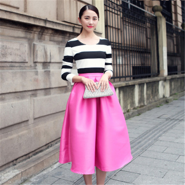 Aliexpress.com : Buy New retro fashion pink/blue/black skirt women ...