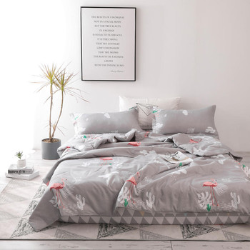 Flamingo Printing Cotton Quilt Bedding Sets