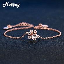 MoBuy MBHI005 Animal Clam Natrual Gemstone Rose Quartz Bracelets & Cuff 925 Sterling Silver Gold Plated Fine Jewelry For Women