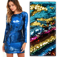 50 145cm Mermaid Sequin Reversible Sequin Dragon Scale Fabric For Tissue Kids Bedding Home Textile For