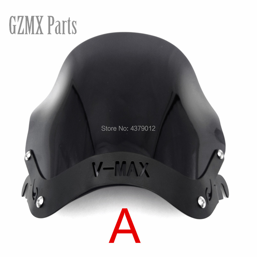 Color : A The Motorcycle Windshield Windscreen Deflector w//Mount Bracket For VMAX1200 V-MAX 1200 VMAX 1200 Big Diavel 1985-2007 Wind Shield Accessories