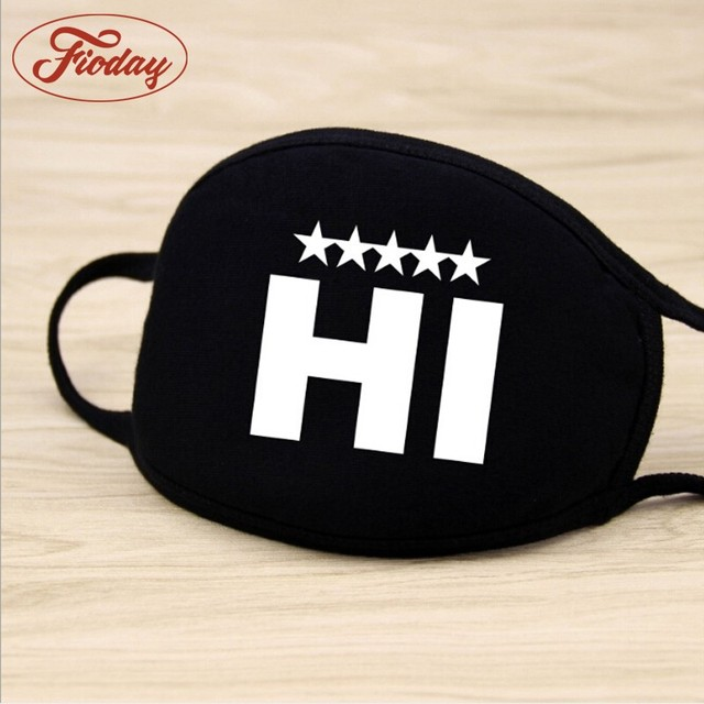 Fioday Cotton PM2.5 Black Mouth Mask Anti Dust Mask Activated Carbon Filter Windproof Mouth-muffle Bacteria Proof Flu Face Masks 4