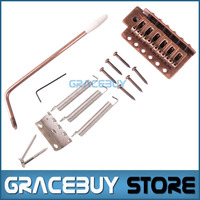 6 Strings Electric Guitar Single Red Bronze Tremolo Locking Bridge System With Bar For Strat New