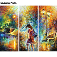 ZOOYA Triptych Paintings Wall Stickers Diamond Embroidery 3d DIY Diamonds Painting Cross Stitch Oil Painting Landscape