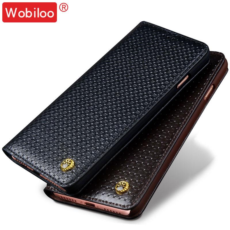 """imágenes para Wobiloo para Xiaomi Redmi 4 5.0 """"caso de la alta calidad del tirón del Cuero Genuino texturas 3D cubierta de la caja del teléfono para Xiaomi Redmi 4 pro 5.0"""""""