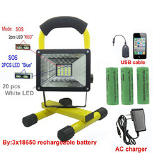 Аккумуляторные cree прожектор батареи зарядное устройство светодиодные led свет открытый водонепроницаемый
