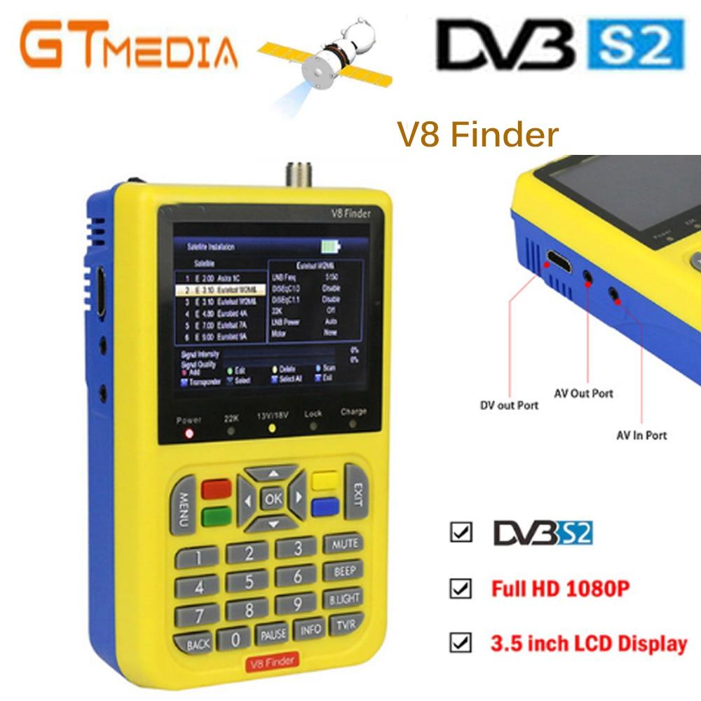GT MEDIA V8 Finder Satellite signal Finder V-71 HD DVB-S2 MPEG-2/MPEG-4 FTA Digital Satellite meter 3.5 inch LCD Display satlinkGT MEDIA V8 Finder Satellite signal Finder V-71 HD DVB-S2 MPEG-2/MPEG-4 FTA Digital Satellite meter 3.5 inch LCD Display satlink