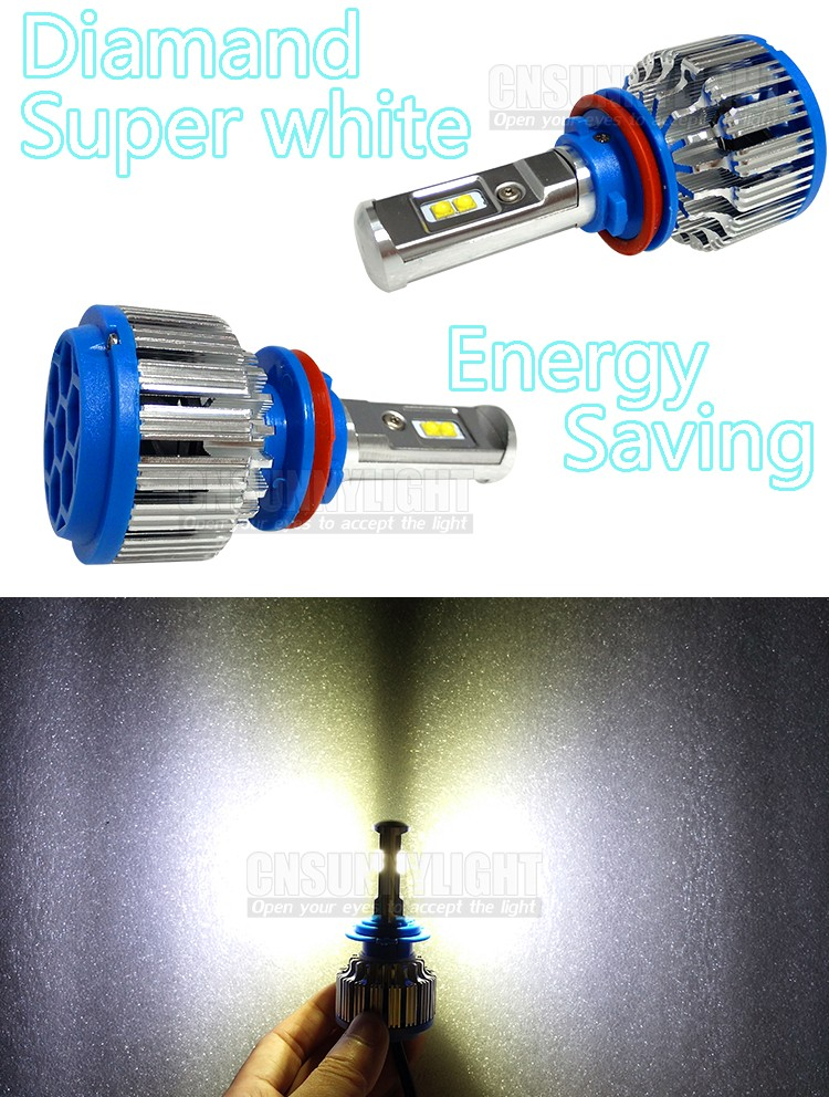 H11 Auto Led Headlight for Cars Motorcycles Front Fog Lighting Lamp Bulb (7)