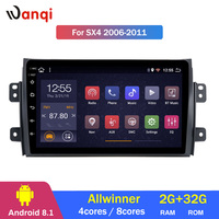 2G RAM 32G ROM 9 inch Android 8.1 full touch car multimedia system for Suzuki SX4 2006 2011 gps radio navigation