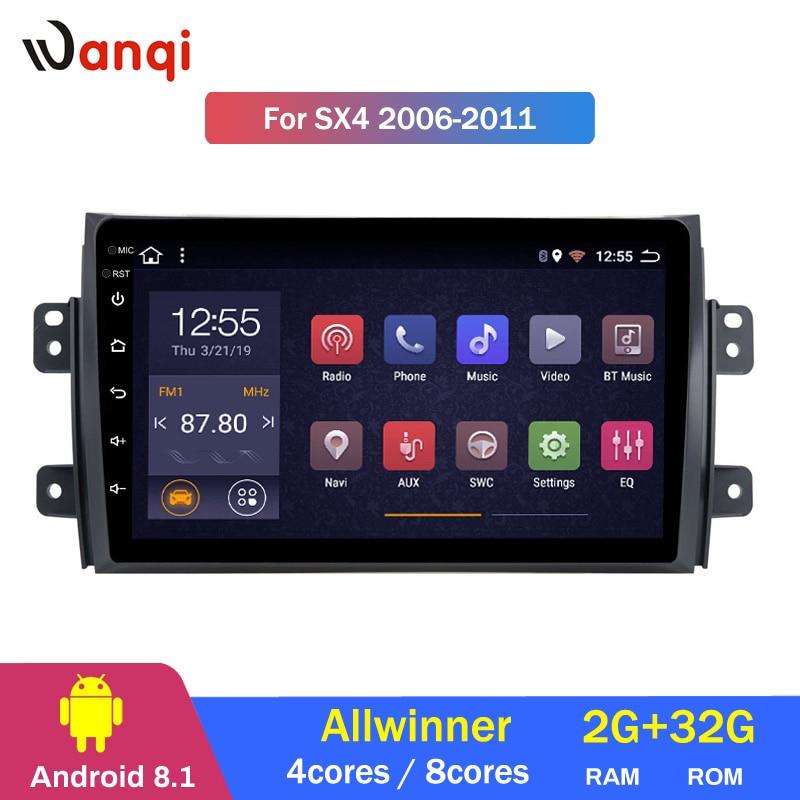 2G RAM 32G ROM 9 pouces Android 8.1 système multimédia de voiture tactile complet pour Suzuki SX4 2006-2011 gps radio navigation