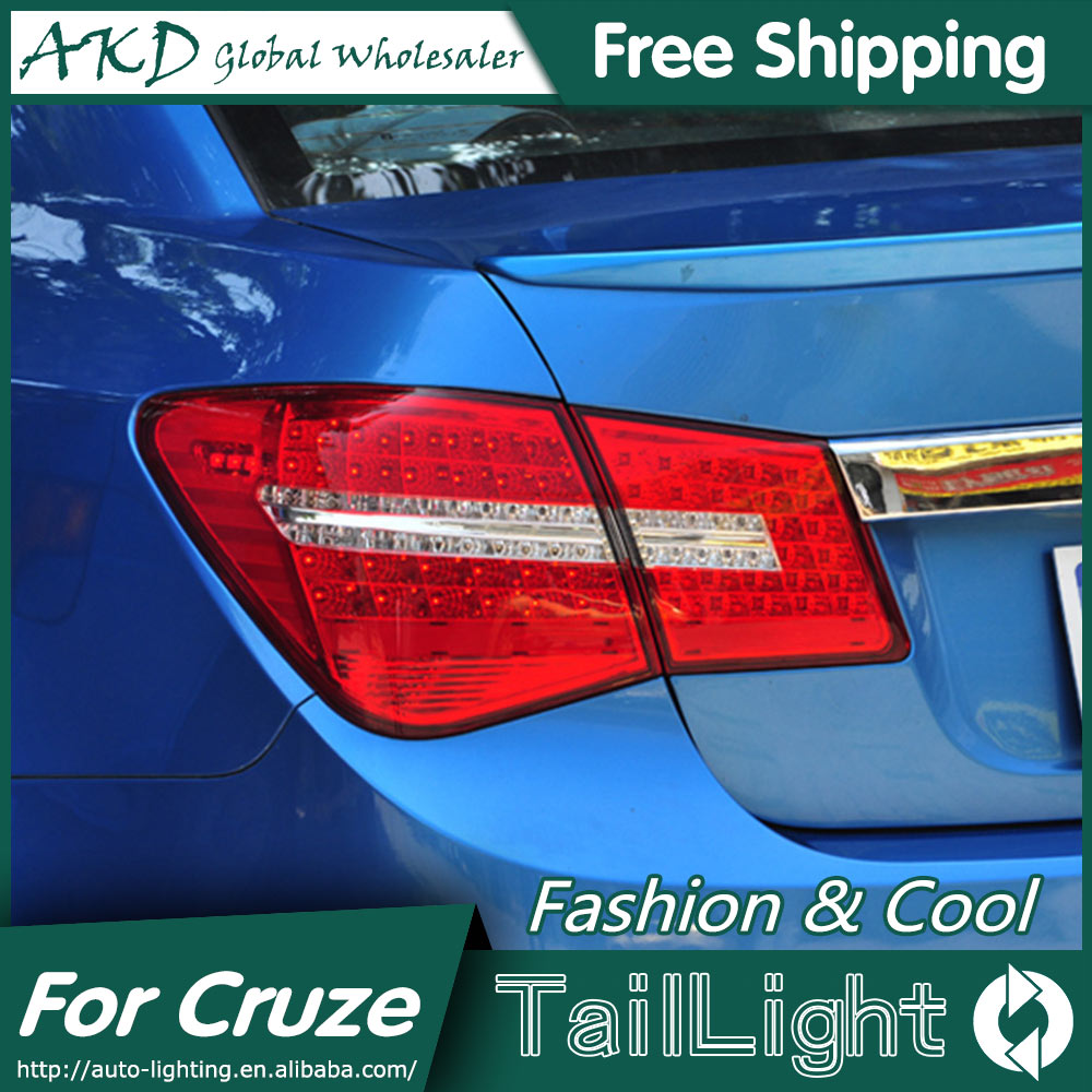 AKD Car Styling for Chevrolet Cruze Tail Lights Benz Design 2012 Cruze LED Tail Light Rear Lamp DRL+Brake+Park+Signal 2009 2012 year for chevrolet cruze all led tail lamp realights red white for mercedes benz style bw v4