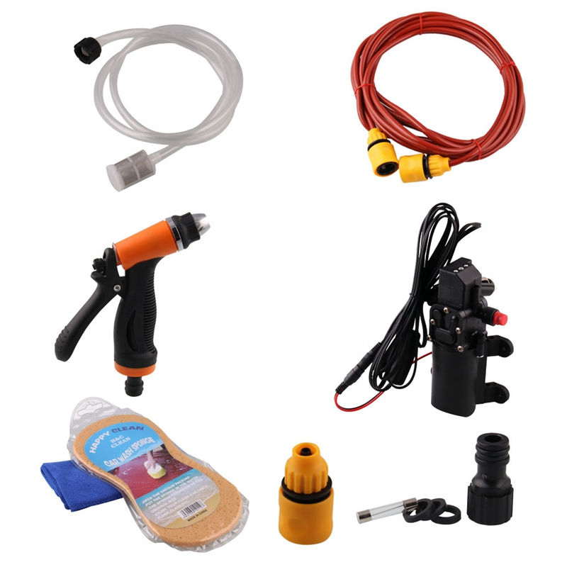 Portable 12V Jet Spray Car Wash Washer Tool High Pressure Electric Water Pump Kit Auto Wash Maintenance Tool Accessories