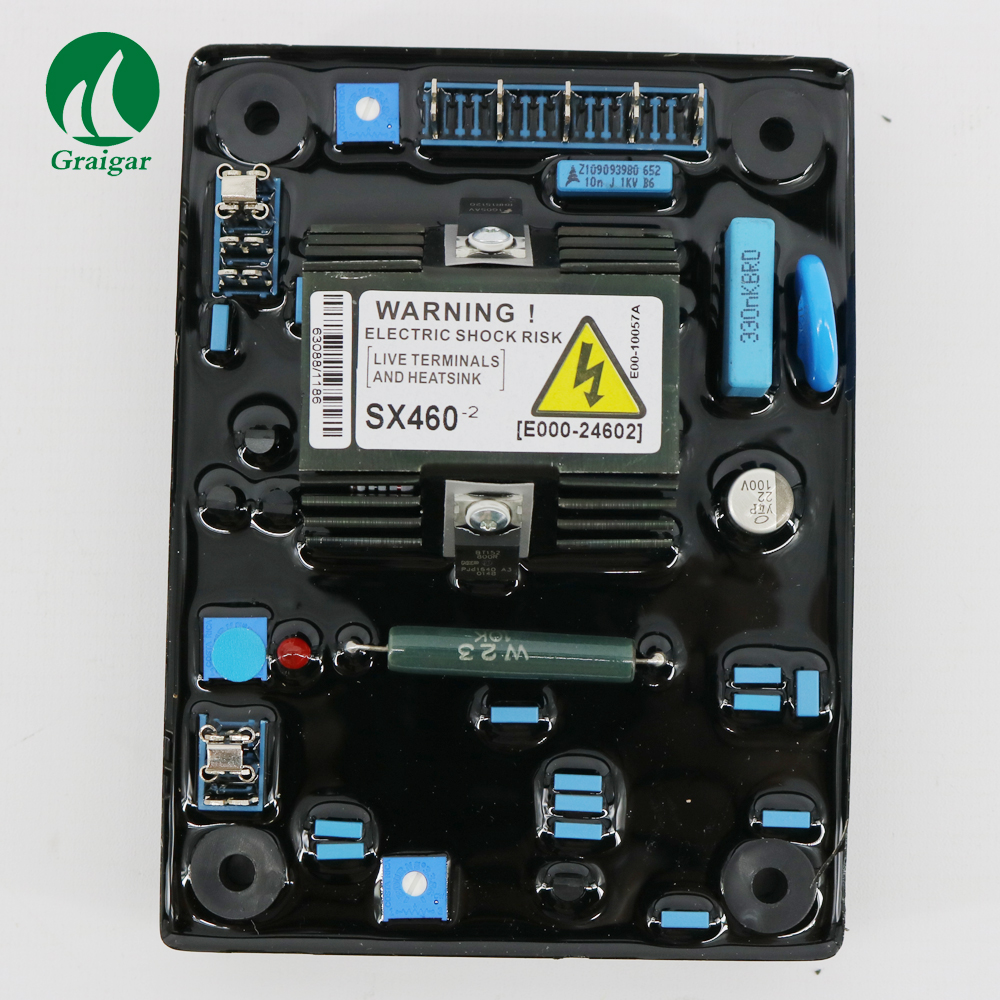New Automatic Voltage Regulator Control Moudle SX460-2 With under frequency LED indicator avr sx460 5 pieces sx460 free shipping