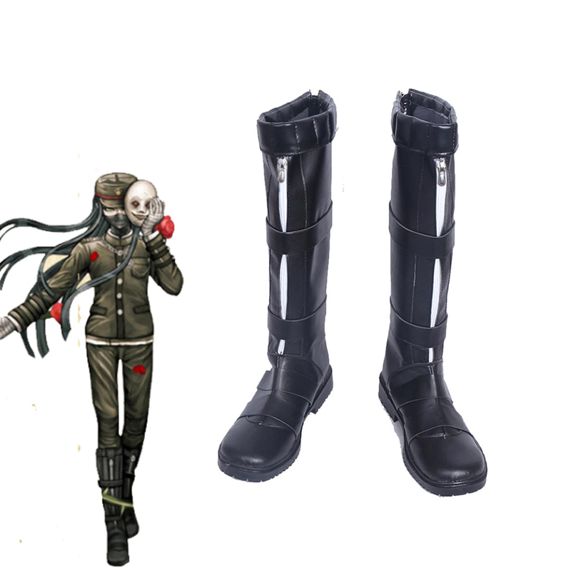 Japanese Game Danganronpa V3 Korekiyo Shinguji Cosplay Shoes Halloween Carnival Anime Boots Custom Made For Adult adult men s tangled flynn rider cosplay boots shoes halloween cosplay prop custom made