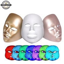 2019 upgraded PDT photon led facial mask 7 colors led light therapy skin rejuvenation wrinkle removal beauty machine facial mask недорого