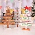Настольная деревянная подвеска-украшение для новогодней ёлки