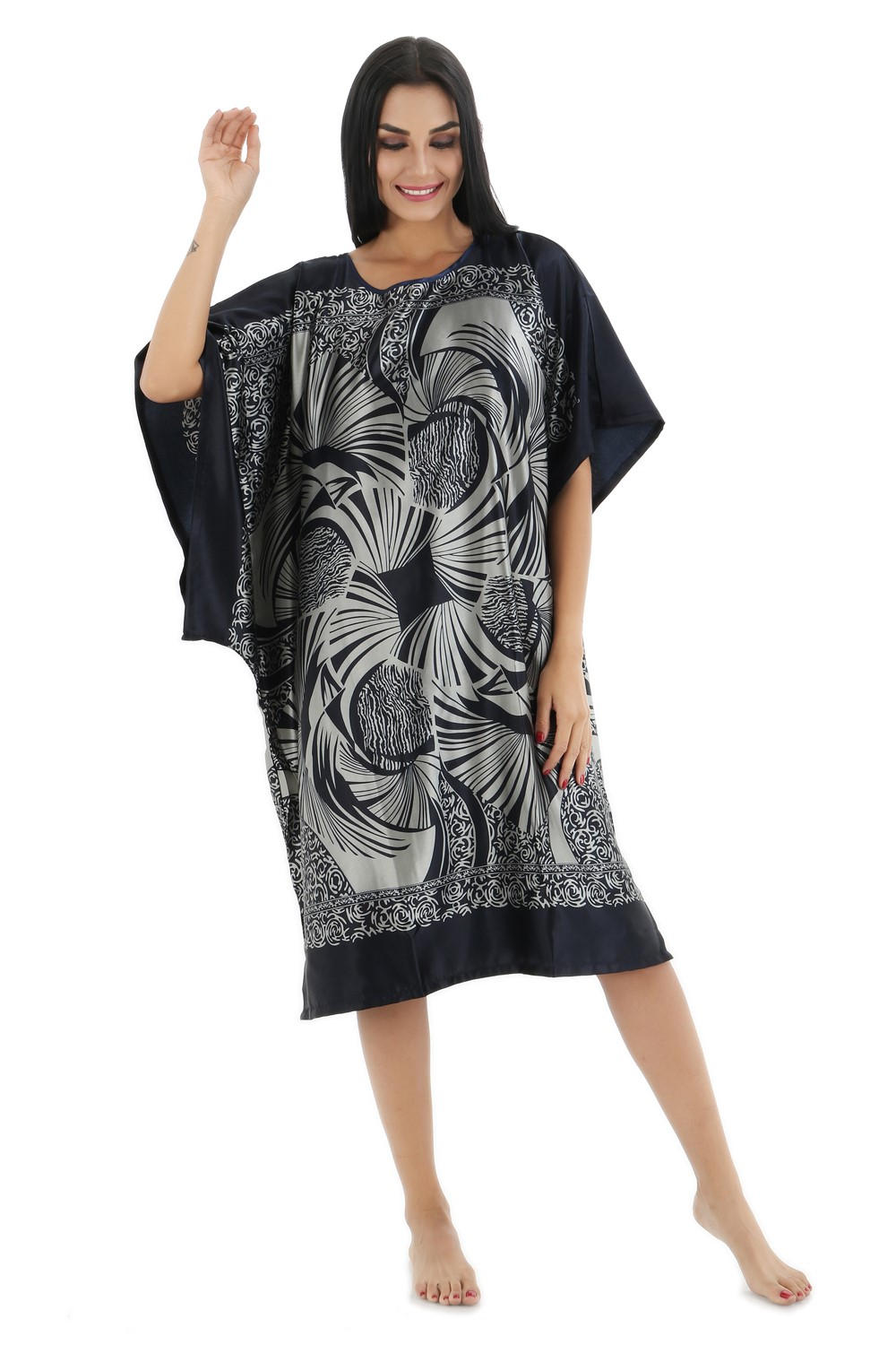 Ladies Sexy Silk Satin Night Dress Nighties Nightgown Plus Size Nightdress Sleepwear Nightwear For Pregnant Women