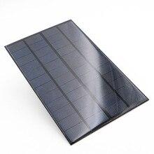 لوحة شمسية 12 فولت 4.2 واط معيار الايبوكسي متعدد البلورات 12 فولت تيار مستمر 4.2 واط 0.35A سيليكون بطارية وحدة شحن الطاقة خلية شمسية صغيرة