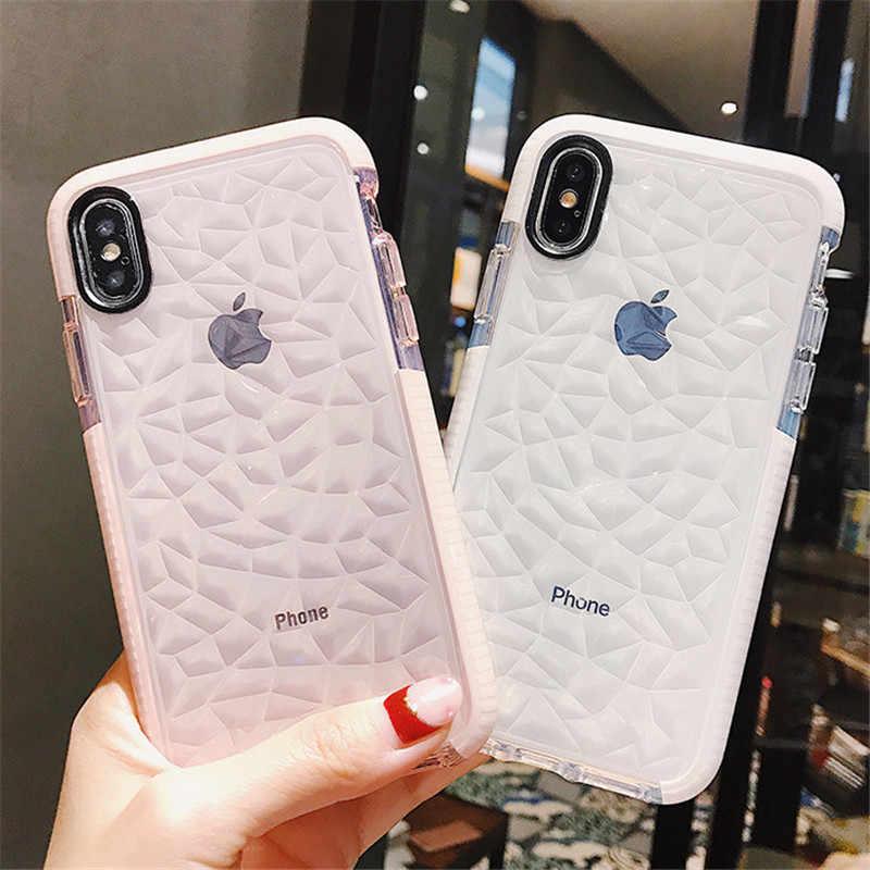 יוקרה ג 'לי טלפון מקרה עבור iPhone X XR XS מקס רך TPU שקוף מקרה עמיד הלם ברור כיסוי עבור iPhone 7 8 6 6s בתוספת 11 Pro מקסימום