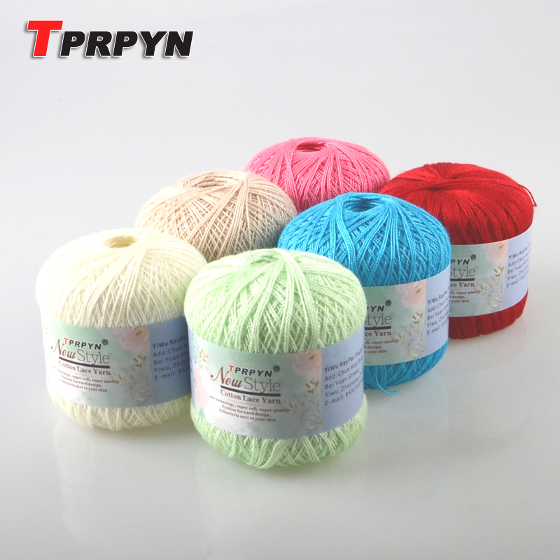 TPRPYN 10Pcs=500g 8# Crochet Cotton Yarn Thin Yarn Lace