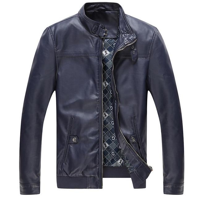 2017 Brand Design Leather Jacket Men Fashion Motorcycle Jackets jaqueta de couro masculina leather bomber Men Jackets And Coats