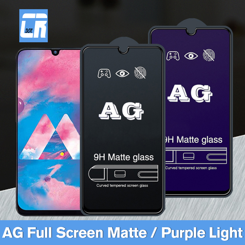 9D Matte Tempered Glass For Samsung Galaxy A10 A20 A30 A40 A50 A60 A70 A90 M10 M20 A5 2017 No Fingerprint Screen Protective Film