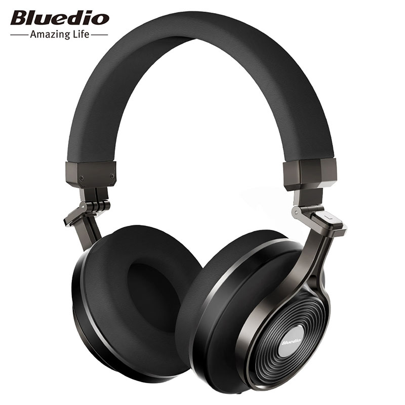 Tüketici Elektroniği'ten Bluetooth Kulaklık & Kulaklıklar'de Bluedio T3 Artı kablosuz bluetooth Kulaklık kulaklık Mikrofon ile Mikro SD Kart Yuvası bluetooth kulaklık kulaklık