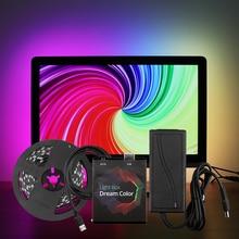 Tira de luz LED WS2812B, USB 5050, RGB, 5V, 1M, 2M, 3M, 4M, 5M, Color de sueño, Kit de luz Ambi para HDTV, escritorio, PC, iluminación de fondo de pantalla