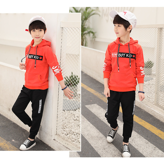 Spring New 2018 Casual Boy Tracksuit Pullover Jogging Set Childen Hoodies Sweatpants Sports Suit baby Children's Clothing Set 2