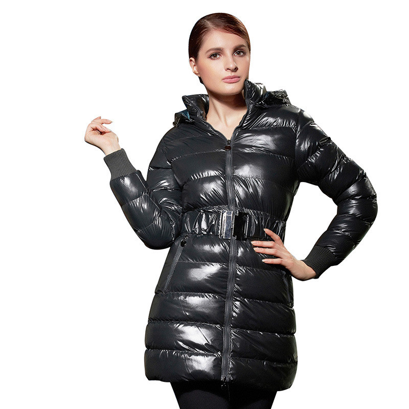 2017 Autumn Winter Jacket Parks Women Solid Casual Hooded Long Sleeve Zipper Hot Sale High Quality Winter Coats GD329 2016 autumn winter women s casual fashion not as long as before and after long section side seam zipper bags seven snowflakes
