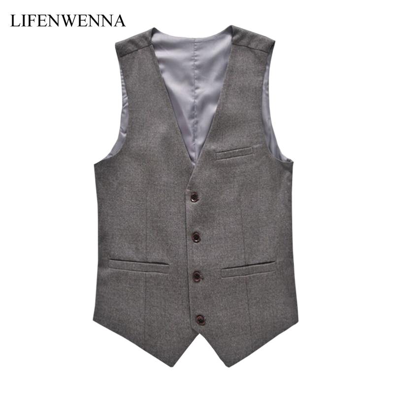 Mode Hommes Vestes Nouveau Style Solide Coupe Slim Vest Hommes Vêtements Tendance Casual Business Mens Suit Gilets Gentleman Social Gilet 6XL