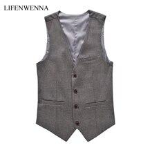 Fashion Men's Vests New Style Solid Slim Fit Vest Mens Clothing Trend Casual Business Mens Suit Vests Gentleman Social Vest 6XL