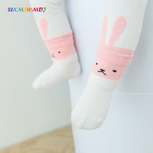 SLKMSWMDJ spring and summer new baby leggings cotton newborn cute cartoon girl thin suitable for 0-4 years old