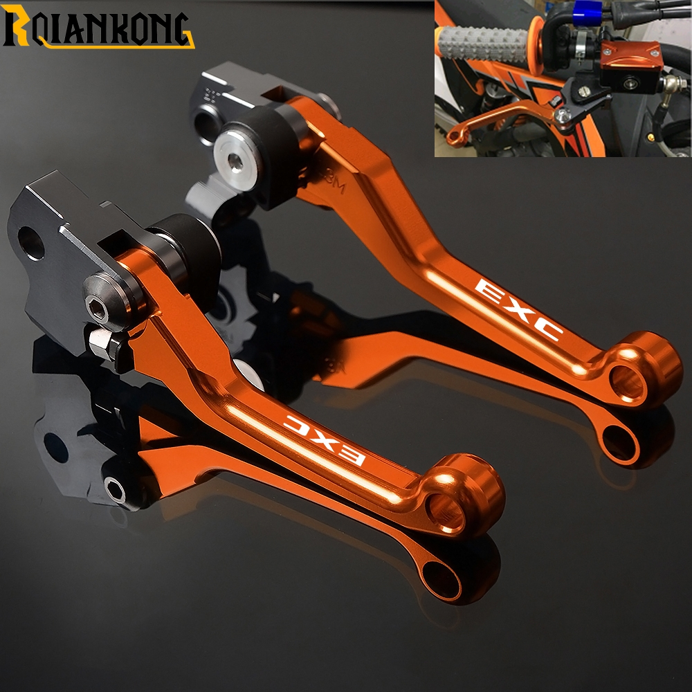 CNC Motorcycle Pivot Foldable Brake Clutch Lever  Motorbike Brakes Levers For KTM EXC 125 200 250 300 400 450 500 530 2009-2018