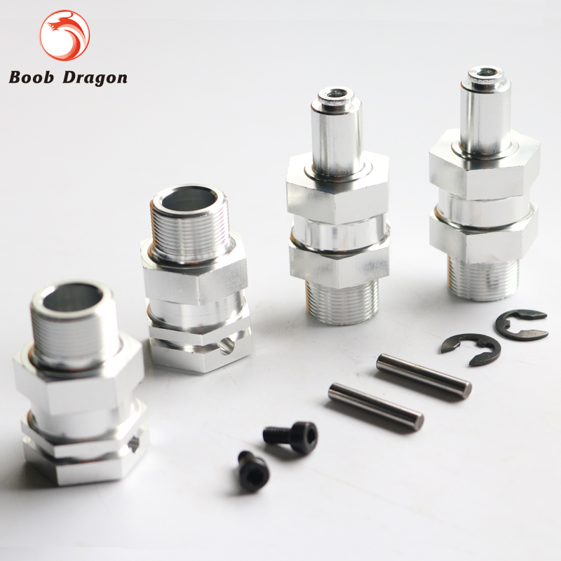 Alloy upgrade 24mm hex hub Fit 1/5 HPI BAJA 5B Parts Rovan King Motor alloy front hub carrier for 1 5 hpi baja 5b 5t 5sc
