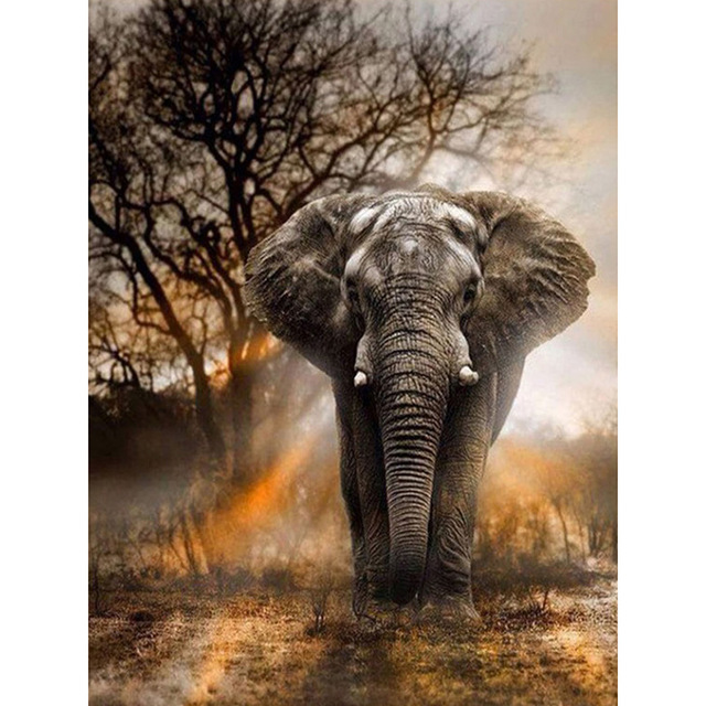 Full Square Drill 5D DIY Diamond Painting quot elephant quot handmade 3D Embroidery arts Cross Stitch Mosaic Decor gift VIP D1939 in Diamond Painting Cross Stitch from Home amp Garden