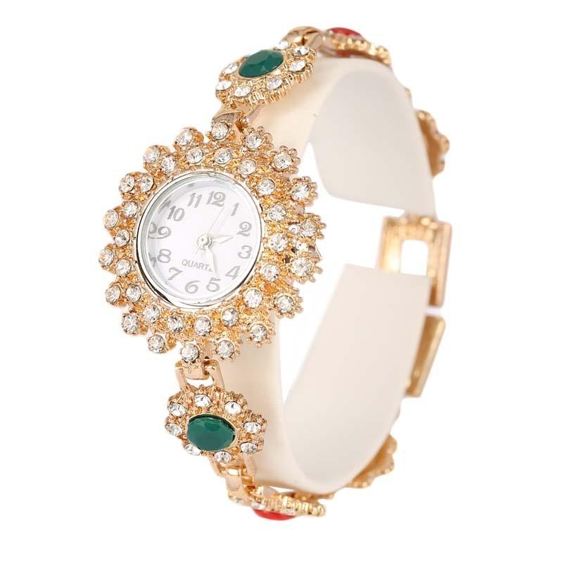 2014 New Fashion Indian Jewelry Womens Accessories Rose Gold Bracelet Women Dress Watch Relogio Masculino