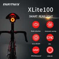 Enfitnix Luz trasera inteligente Bicicleta Luz Bicicleta XLite 100 Luz trasera autoarranque/parada Detección de frenado Luz LED impermeable IPX6